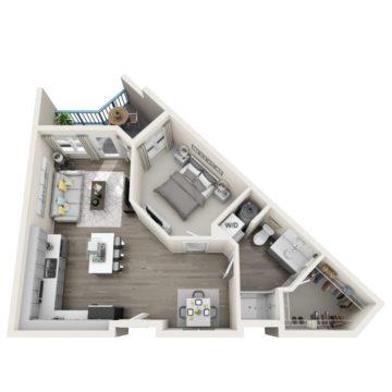 Apartment 332 floor plan