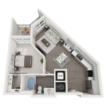 Apartment 328 floor plan