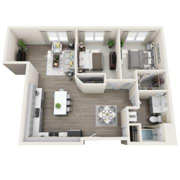 Apartment 321 floor plan