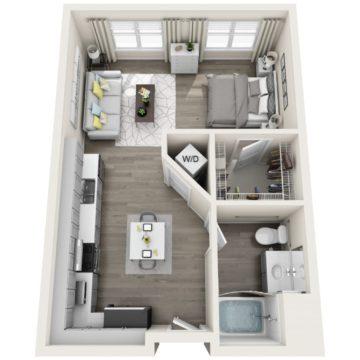 Apartment 259 floor plan