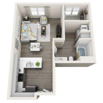 Apartment 295 floor plan